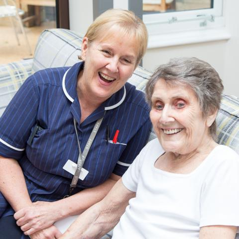 Bolton Hospice Sister and Patient